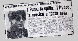 VIRUS: CONTAMIN-AZIONE PUNK A MILANO La dura vita dei primi punk a Milano