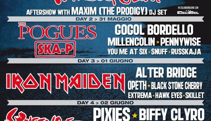 ROCK IN IDRO si aggiungono THE POGUES, MAXIM (THE PRODIGY) DJ SET, THE FRATELLIS E SKILLET