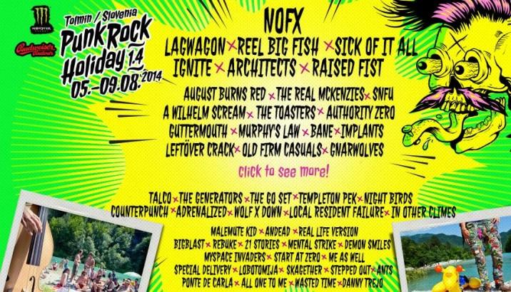 Line-Up definitiva per il PUNK-ROCK HOLIDAY!