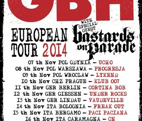 GBH in Italia per tre date questo fine settimana
