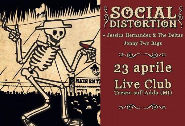 SOCIAL DISTORTION in Italia ad aprile!