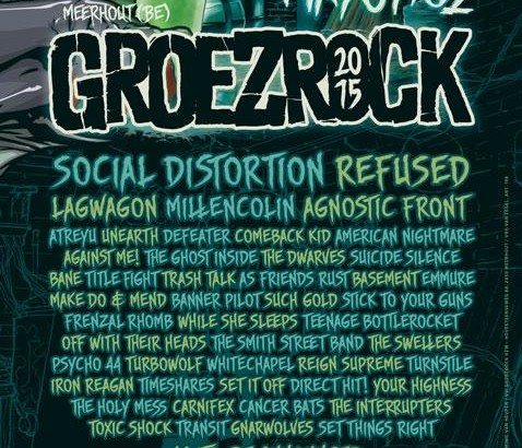 GROEZROCK 2015: Social Distortion, Refused, Agnostic Front e Lagwagon tra i primi nomi
