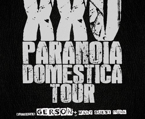 Parte il 17 PARANOIA DOMESTICA TOUR!