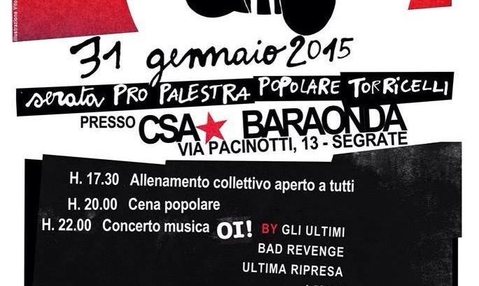 IN BOXE WE TRUST: Serata pro palestra popolare di via Torricelli