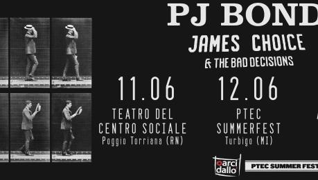 PJ BOND in Italia a giugno