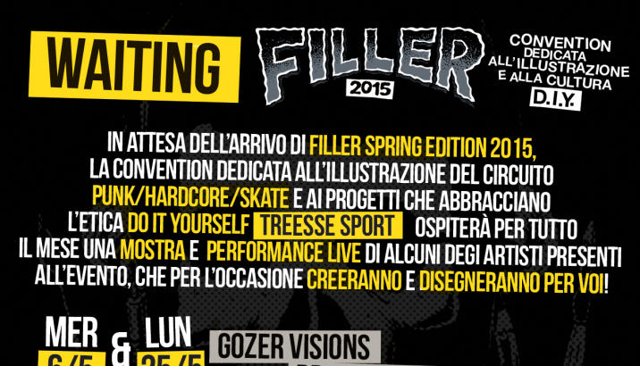 Aspettando FILLER 2015: mostra da TreesseSport per un mese