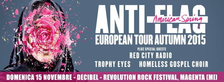 REVOLUTION ROCK 2015 con ANTI-FLAG e RED CITY RADIO
