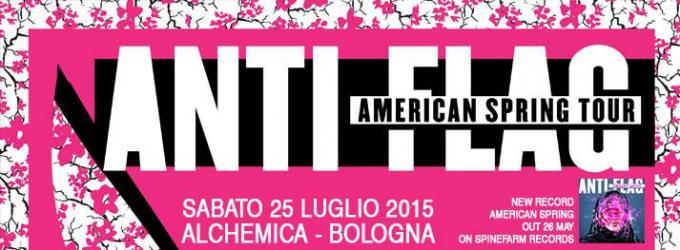ANTI-FLAG a Bologna questo sabato