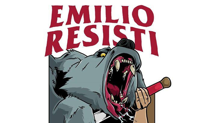 #EMILIO RESISTI con D.O.A. Bloody Riot, Plakkaggio, Because the Bean