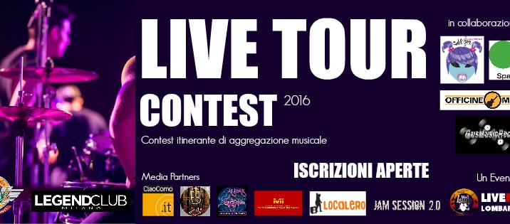 Comunicato Stampa – LIVE TOUR CONTEST 2016