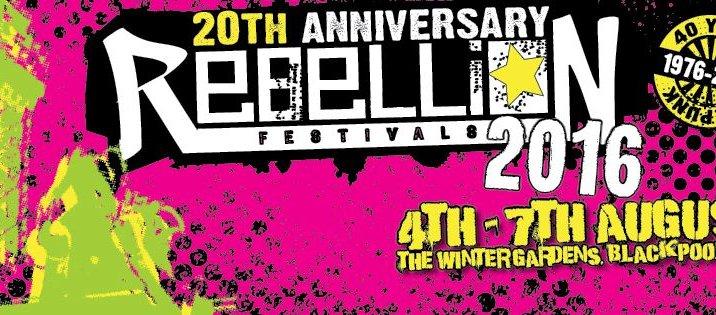 REBELLION FESTIVAL 2016: la line up