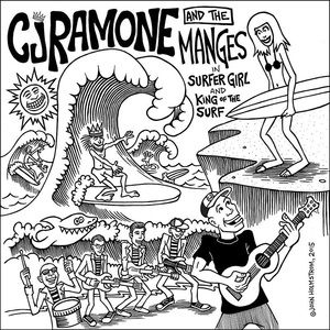 CJ RAMONE/THE MANGES: Split 7″