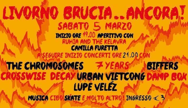 LIVORNO BRUCIA ANCORA!: sabato 5 marzo all'Ex Caserma Occupata