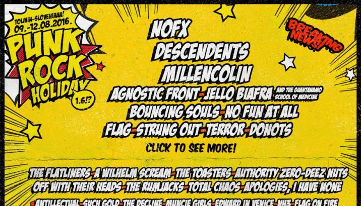 PUNK ROCK HOLIDAY 1.6: line-up completa