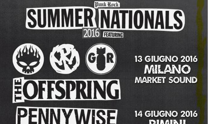 Punk Rock Summer Nations con OFFSPRING, PENNYWISE e GOOD RIDDANCE a Milano e Rimini