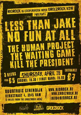 GROEZROCK 2016: pre-fest con LESS THAN JAKE e NO FUN AT ALL