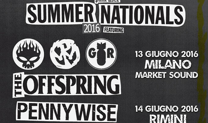 PUNK ROCK SUMMER NATIONALS: oggi e domani a Milano e Rimini