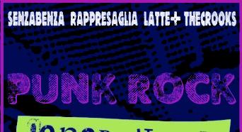 """Il Vinile dell'anno: """"PUNK ROCK GENERATIONS"""" con LATTE+ RAPPRESAGLIA THE CROOKS SENZABENZA"""