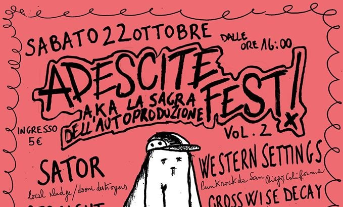 ADESCITE FEST VOL. 2 questo sabato a Genova