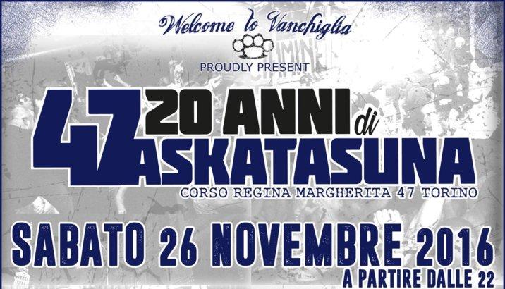 20 ANNI DI ASKATASUNA con Banda Del Rione, Bomber 80, Plakkaggio (26/11/16)