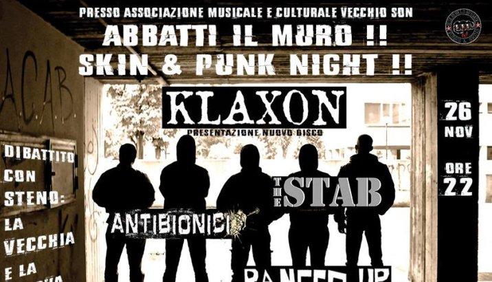ABBATTI IL MURO! SKIN&PUNK NIGHT (Vecchio Son, Bologna 26/11/16)