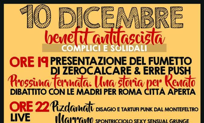 Benefit antifascista a Rimini! – Presentazione fumetto Zerocalcare e concerti!