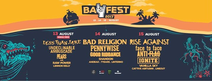 BAY FEST 2017, ANNUNCIATE DUE NUOVE BAND