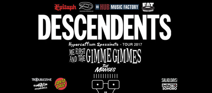 I MANGES apriranno a DESCENDENTS e ME FIRST AND THE GIMME GIMMES