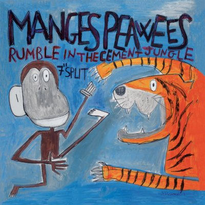 THE MANGES/THE PEAWEES: Rumble in The Cement Jungle 7″