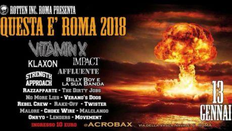 QUESTA E' ROMA FEST – 2018