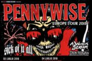 PENNYWISE, SICK OF IT ALL, A WILHELM SCREAM e IRON REAGAN in Italia a luglio per due date