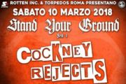 COCKNEY REJECTS: unica data italiana il 10 Marzo