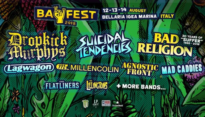 BAY FEST 2018: si aggiungono BAD RELIGION, SUICIDAL TENDENCIES e MILLENCOLIN