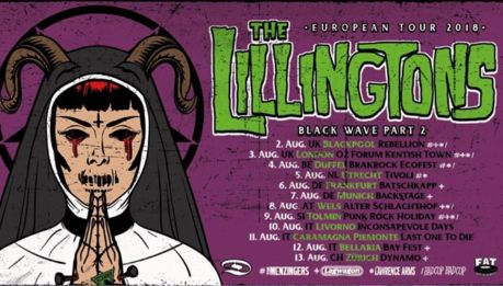 Tre date italiane per i LILLINGTONS