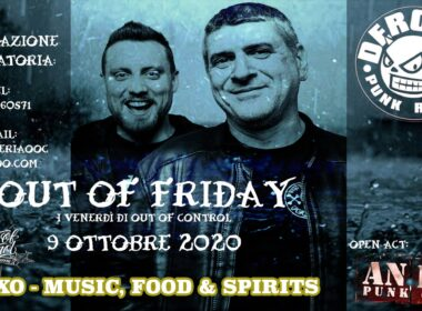 OUT OF CONTROL presenta: OUT OF FRIDAY coi DEROZER ( 9 ottobre @ Xò, Magenta)