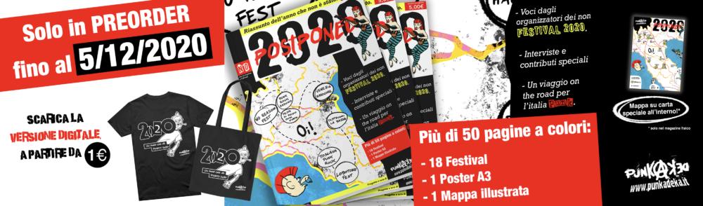 """""""2020 POSTPONED"""": fuori il magazine che racconta l'Italia dei festival punk nell'anno della pandemia – PREORDER NOW!"""