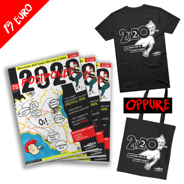 2020 Postponed Magazine + T-Shirt o Shopper