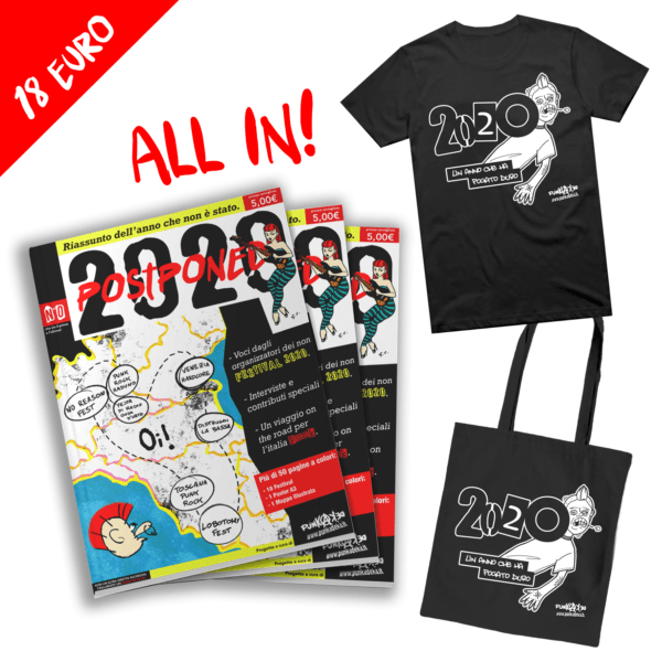 2020 Postponed Magazine + T-Shirt + Shopper