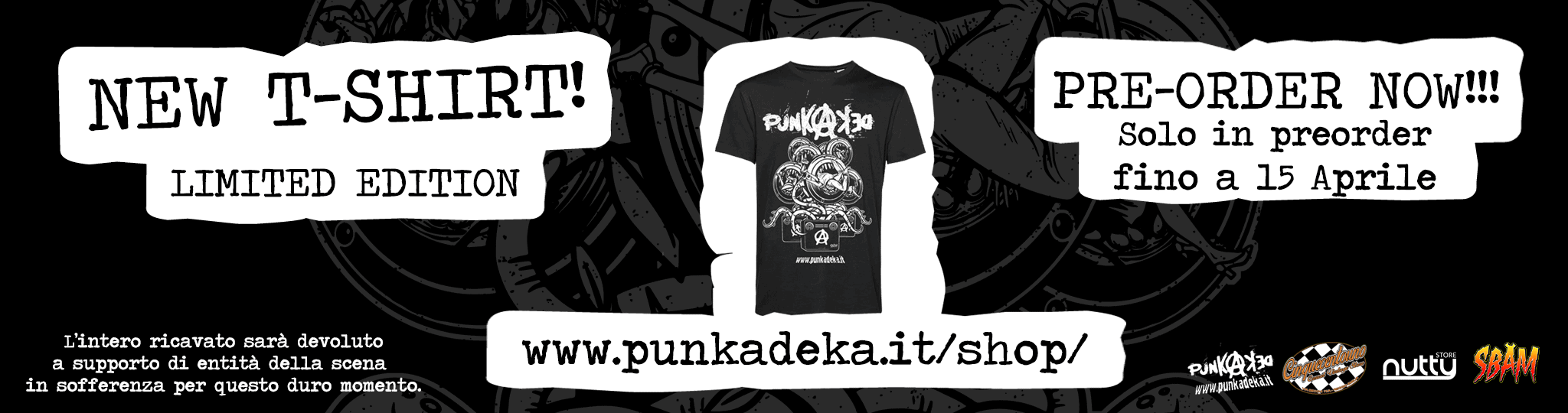 Punkadeka.it T-SHIRT PRE-ORDER NOW